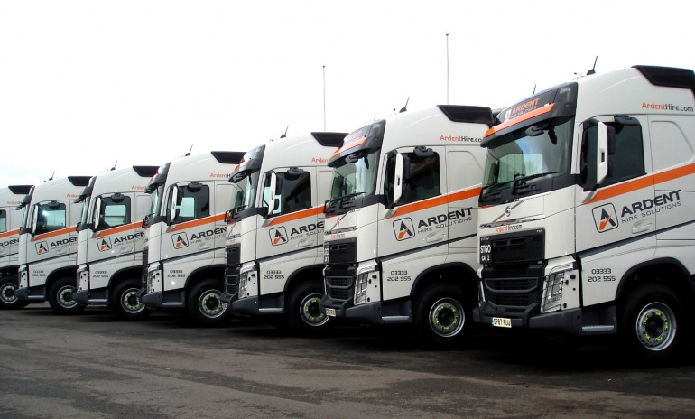 Ardent Hire Solutions ltd. strengthens its UK coverage with a new fleet of Volvo trucks