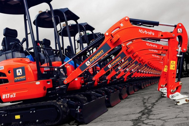 Ardent Hire Mini Excavators
