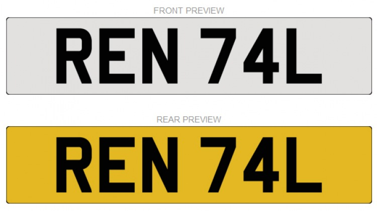 Number Plate - REN 74L