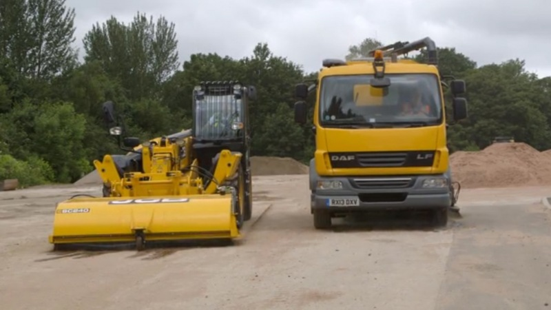 Road Sweeper vs. Telehandler Sweeper Attachment