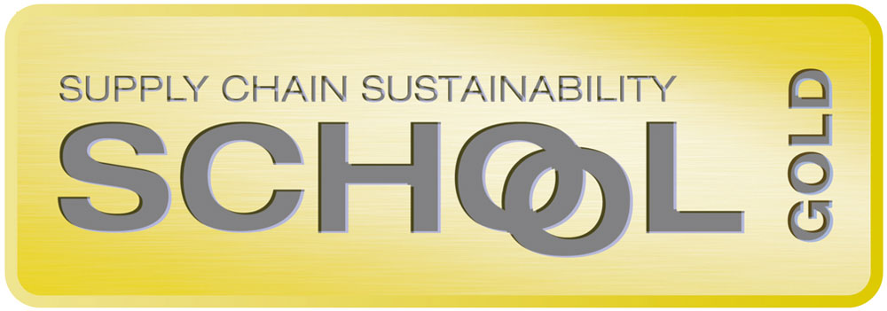 Supply chain sustainability school gold